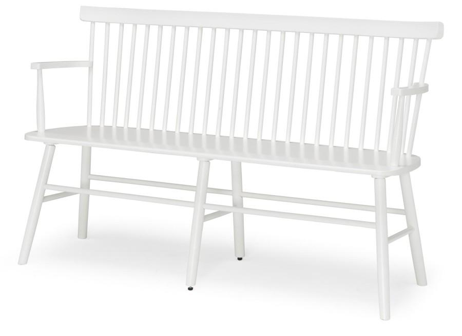 SCAND white birch armchair /bench