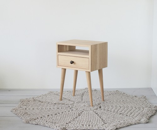 NORD side table 03 white oiled oak  (NO-03-EH)