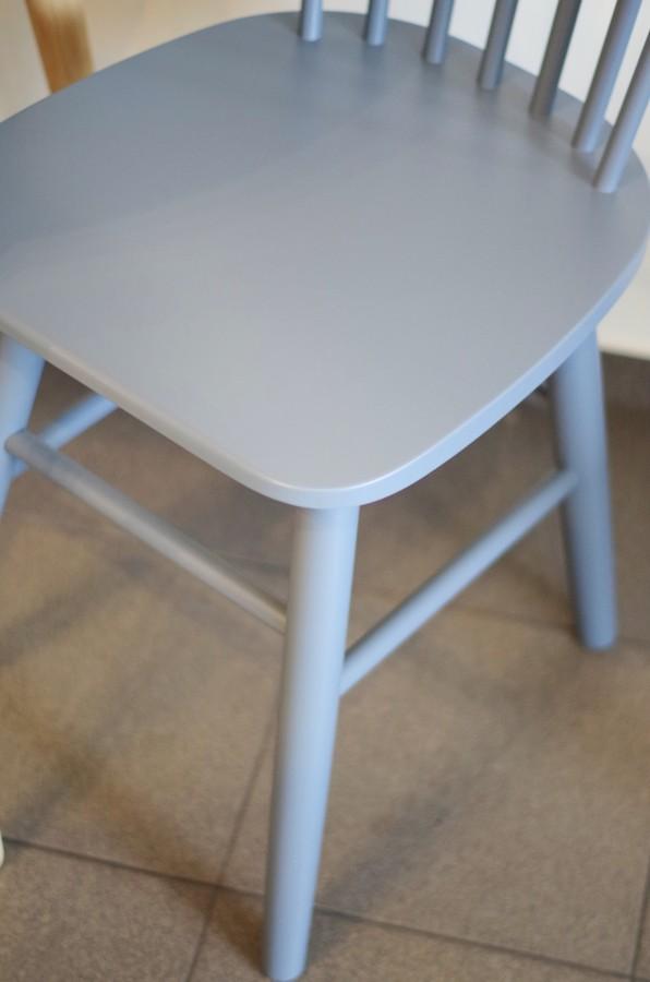 SCAND dusty blue birch chair