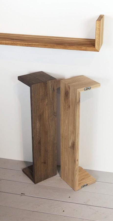 GREEN wall shelf- natural oak