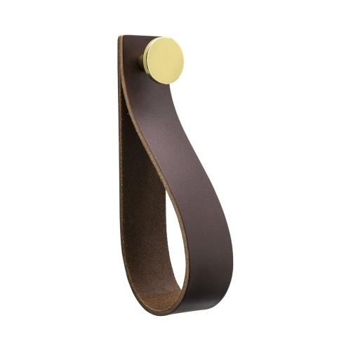 Handle LOOP 333305-11 brown / brass