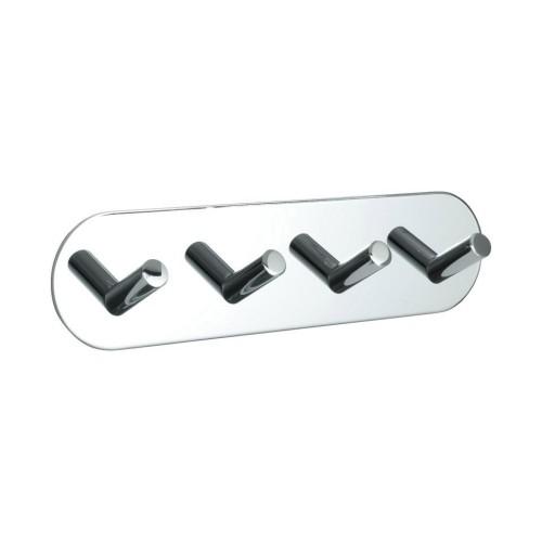 Hook BASE 100 -4-hook - 60411  polished chrome