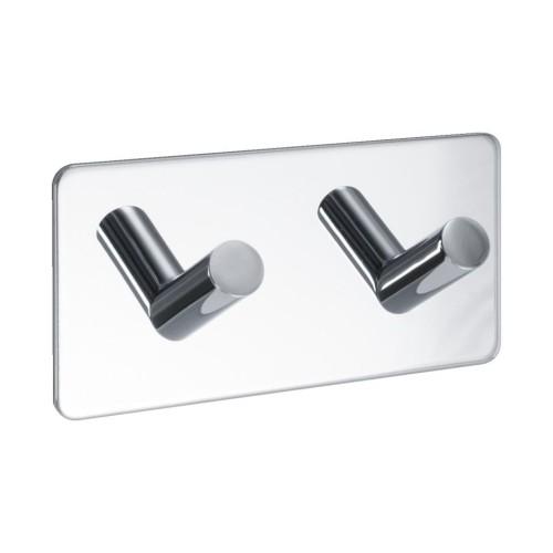 Hook BASE 200 -2-hook - 60409  polished chrome