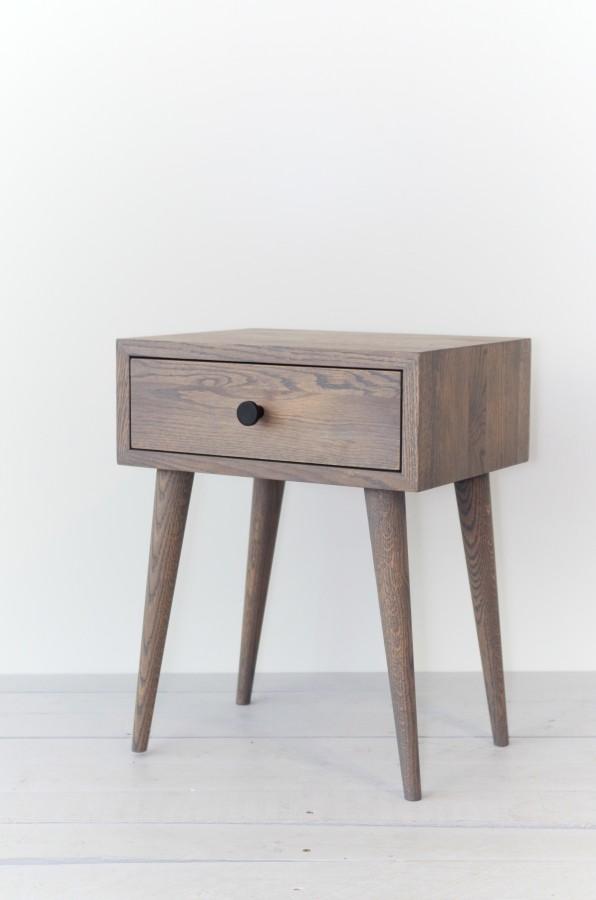 NORD 02 side table grey oak (NO-02-EG)