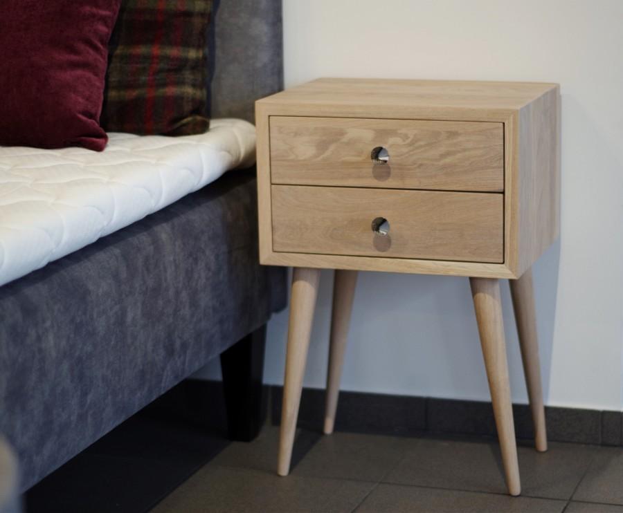 NORD bedside table 04 white oiled  oak