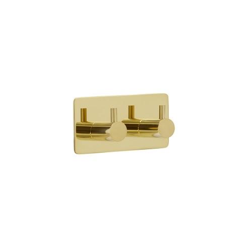 Hook BASE 220 -2-hook - 61613  brass