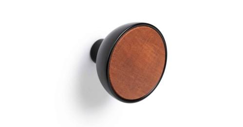 Knob BOL 45 black/brown