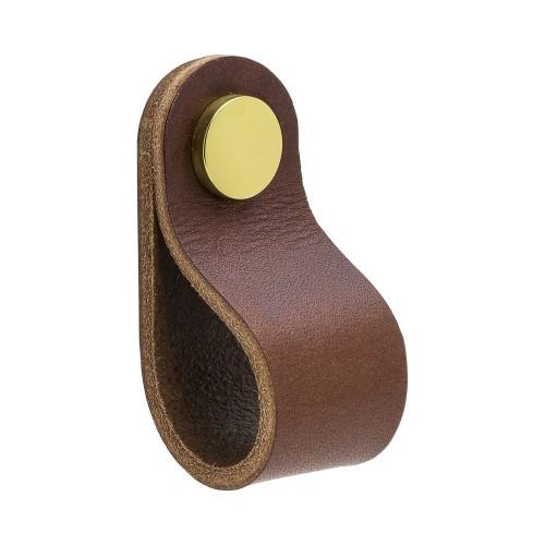 Handle LOOP Round-333231-11 leather brown