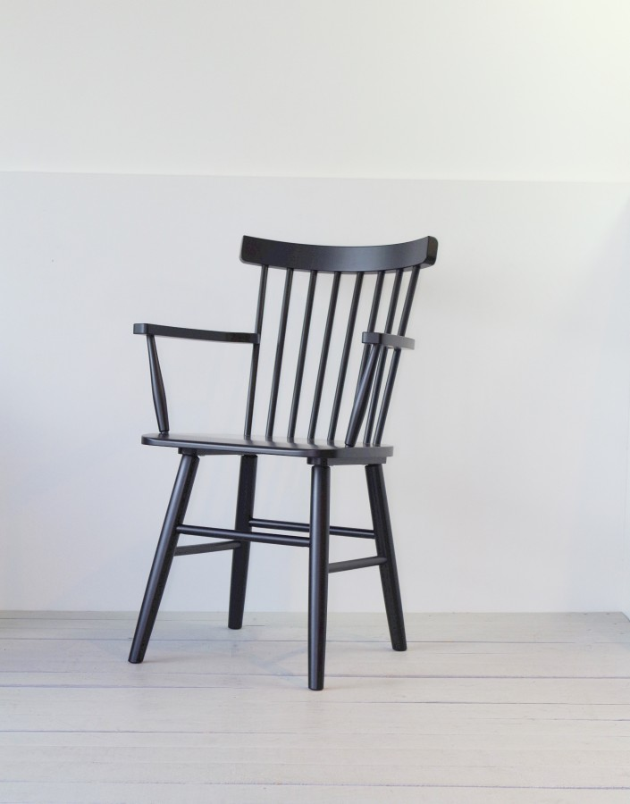 SCAND black birch armchair