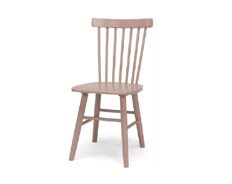 SCAND dusty pink birch chair