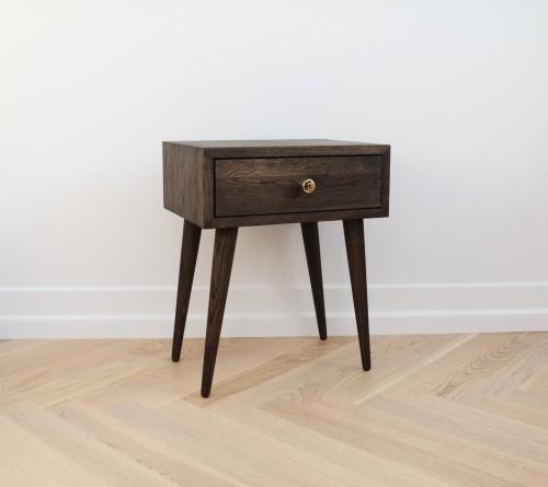 Side table DARK smoked oak NORD 02  (NO-02-EDC)