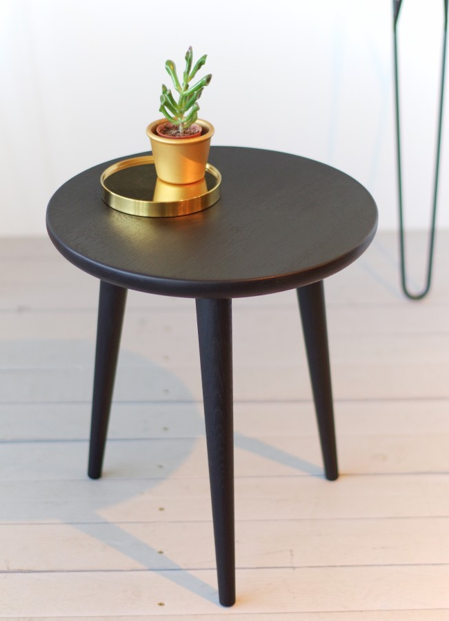 STOOL 02 small side table  black, oak